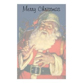 Vintage Santa Claus with Toys on Christmas Eve Customized Stationery