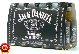 10 Jack Daniels Black Label 0,05 Ltr. 40%