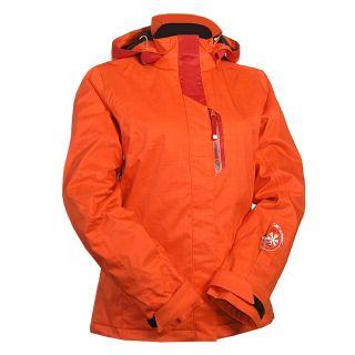 ZIENER TAHITI Gr. 42 Damen Skijacke Snowboardjacke fire orange
