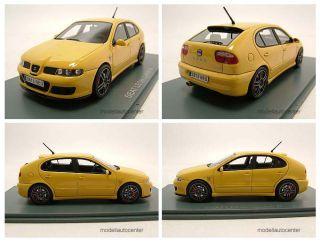 Seat Leon Cupra R 1997 gelb, Modellauto 143 / Neo Scale Models