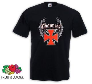 Biker T Shirt Chopper Iron Cross Harley Davidson Wings