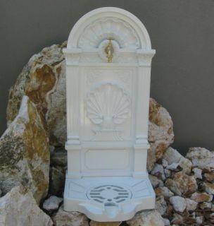 Standbrunnen Garten Weiss Jugendstil 83cm Alu Guss