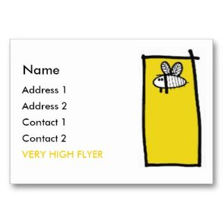 Very High Flyer Profile Card Business Cards