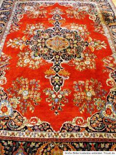 Wunderschöner Blumen Kirman Orientteppich Sarough Teppich Tappeto