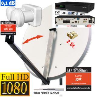 SAT  Anlage für 2 Satelliten mit HD Receiver