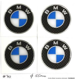 BMW Emblem Felgen Aufkleber Sticker  Silikon   Ø 55 mm #70