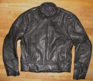 RED ZIPP Motorrad   LEDERJACKE / Biker  Jacke in schwarz Gr. 54