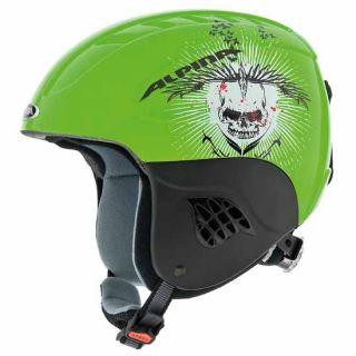 Alpina Carat Kinderskihelm green skull Gr.51 55