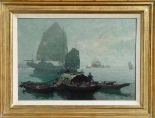 Erich Kips Hongkong Hong Kong China Dschunke Xianggang