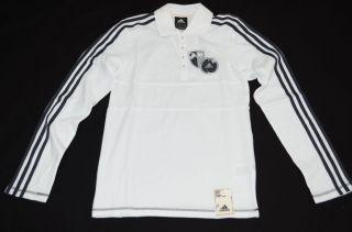Adidas Co LS Polo O02626 Herren Shirt Langarm polo weiß/grau XS 2XL