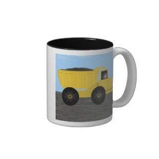 Bradley Dump Truck Personalized Name Mug