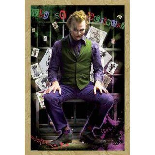 Batman   Poster   Dark Knight   Joker Jail + Wechsel Rahmen Maxi aus