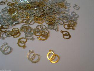 100 Streu Elemente /Hochzeit/ Deko   Ringe / Trauringe   Gold, Silber