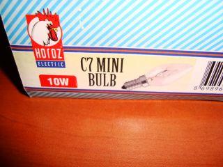 10 x NIGHT LIGHT BULBS C7 MINI BULBS E14 10W SCREW CAP SPARE LAMP 10