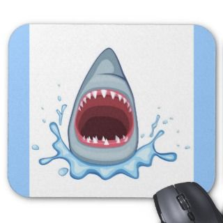 vectorstock_383155 Cartoon Shark Teeth hungry Mousepad