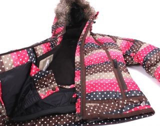 Roxy Black Pearl 10.000mm Damen Snowboardjacke pin/braun/schwarz XS XL