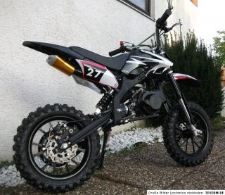Dirt Bike / Cross / DIRT BIKE / 49 ccm 3.5 PS / 10 Zoll   schwarz