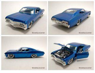 Chevrolet Impala SS 1967 blau, Tuning, Modellauto 124 / Jada Toys
