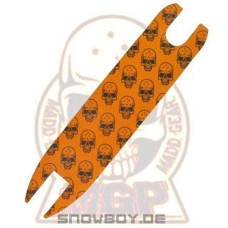 MGP MADD GEAR Orange black Skull Grip Tape 20 x 4.5 Scooter