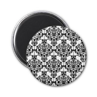 Black and White Lace Wallpaper Magnet