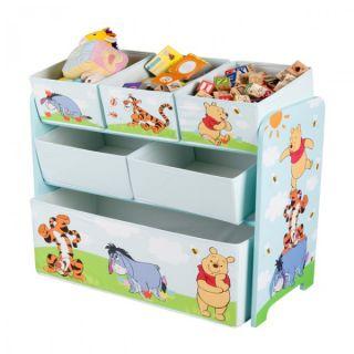 Disney Winnie Pooh Kinderregal Spielzeugkiste Holz Aufbewahrungsbox