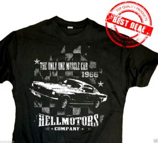 Ford Mustang Fastback 66er Hotrod T Shirt,V8 Kult Muscle Car Shirt,Big