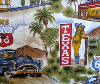 HAWAIHEMD Made in Hawaii Aloha Shirt Route 66 3XL California