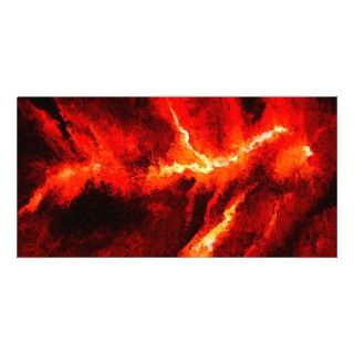 Thunders   Red Abstract Modern Art Picture Card