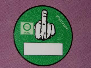 Feinstaubplakette Umweltzone VW Käfer Ovali Brezel Grün