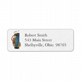 Golf Bag Return Address Labels