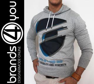 Jack & Jones Kapuzen Sweatshirt grau Pulli Hill Sweat Clubwear Hoodie