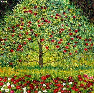 Gustav Klimt   Der Apfelbaum e81558 60x60cm Ölgemälde handgemalt