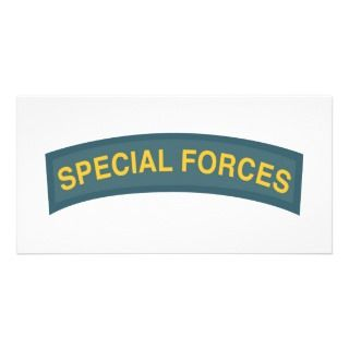 Special Forces Tab Personalized Photo Card