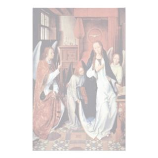 The Annunciation By Memling Hans Stationery Design