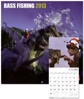 Bass Fishing   2013 Wall Calendar Calendars