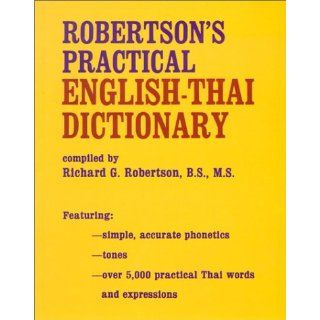Robertsons Practical English Thai Dictionary Richard G