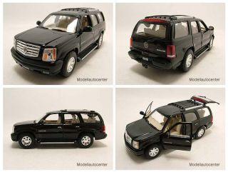 Cadillac Escalade 2002 schwarz, Modellauto 124 / Welly