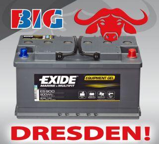 GEL Batterie Exide 12V 80AH ES900 G80 Boot Wohnmobil ersetzt 70 85 90