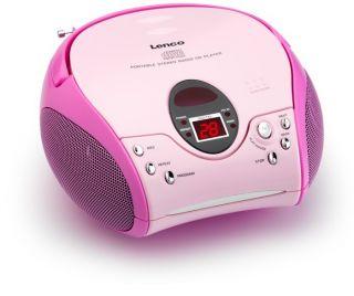 Kinder Stereoanlage pink tragbar CD Player Radio Kinderanlage rosa