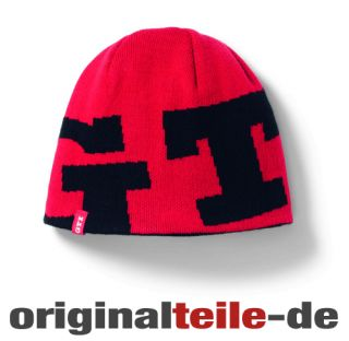 Orginal VW Golf GTI Mütze Strickbeanie Black Red Tuning 6R3084303BBG