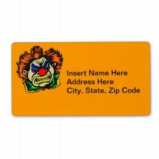 Violent Evil Clown Custom Shipping Labels