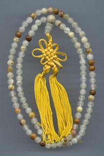 Mala Gebet Mette Rosenkranz Mondstein Buddha Dharma 79