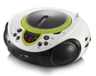 Tragbarer CD Player MP3 USB Anschluss Radio Tuner AUX LED mobil Kinder