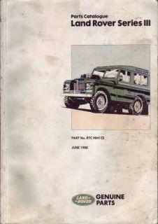Land Rover Series Serie 3 III Ersatzteil Teile Katalog