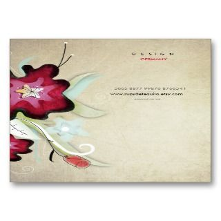 Floral nature handmade art woman business card