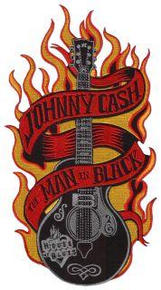 Johnny Cash ★ Man in Black Rock n Roll Aufnäher Aufbügler