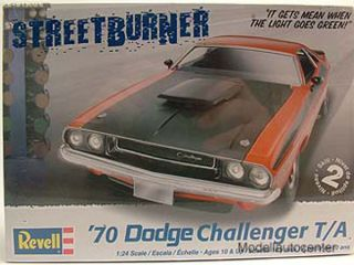Dodge Challenger T/A 1970, Kunststoffbausatz, Modellauto 124 / Revell