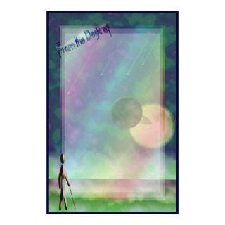 Alien Beaches Collage 2 (Lighter Version*) Stationery Design