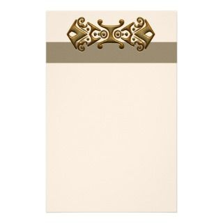 Elegant Banner Unlined Stationery
