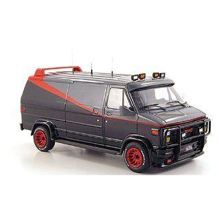 GMC Panel Van, A Team, schwarz/grau/rot (Elite), 1983, Modellauto